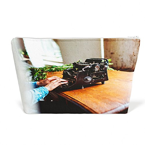 n Typewriter - Pen Pencil Marker Accessory Case - Picture Photography Office School Pouch Holder Storage Organizer - 13x9 inch (B8C40) ()