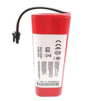 Dubleir batería para Xiaomi Mi Aspirador - 6000 mAh Li-Ion 18650 batería para Xiaomi Robot Aspirador roborock S50 S51: Amazon.es: Hogar