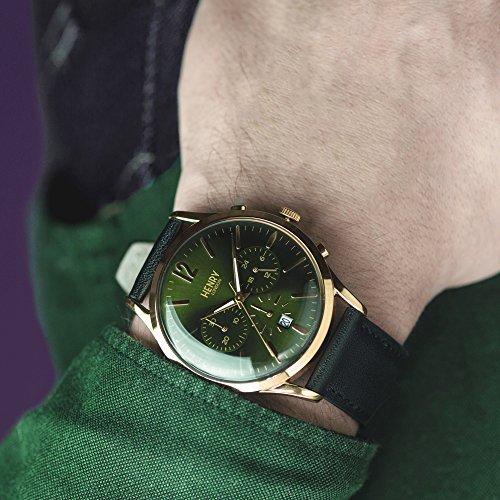 Henry London Reloj Analógico para Unisex de Cuarzo con Correa en Cuero 5018479078210: Henry London: Amazon.es: Relojes