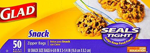 Glad Zipper Food Storage Snack product image