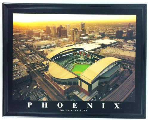 Arizona Diamondbacks Baseball Chase Field Framed Aerial Photo F7571A (Arizona Framed Wall Diamondbacks)