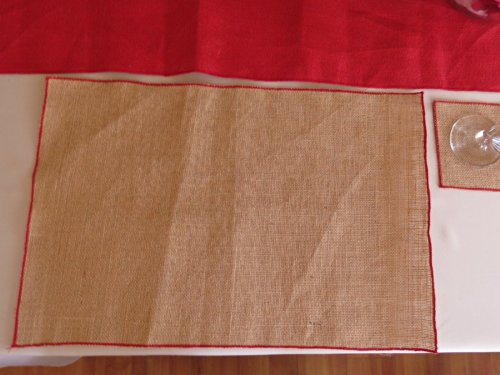 ArtOFabric-Natural-Burlap-with-Red-Serged-Edges-Placemats-Set-of-6