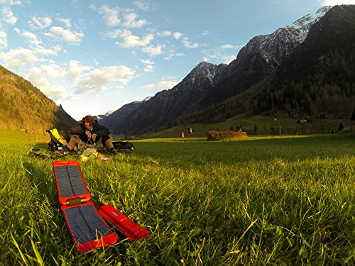 Exo-Science Powermonkey Extreme 5V and 12V Solar Portable Charger, Red by Exo-Science (Image #4)