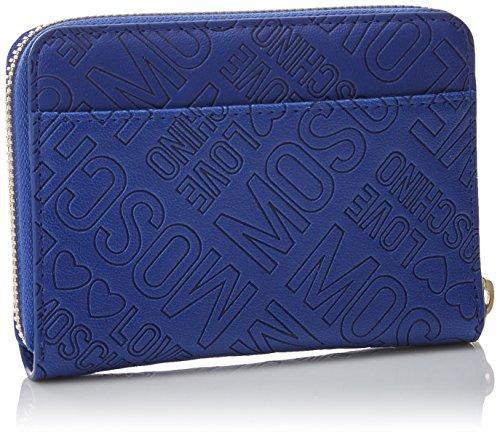 Pochettes Pu Love Blue Moschino Embossed Bleu Portafogli wqff6Pxv
