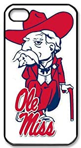 Ole Miss Logo Hard Plastic iPhone 4 4s Case,Top iPhone 4 4s Case from Good luck to