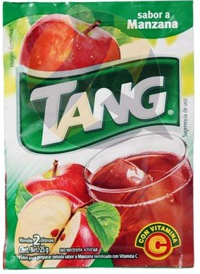 3 X Tang Manzana Flavor No Sugar Needed Makes 2 Liters of Drink 15g From Mexico