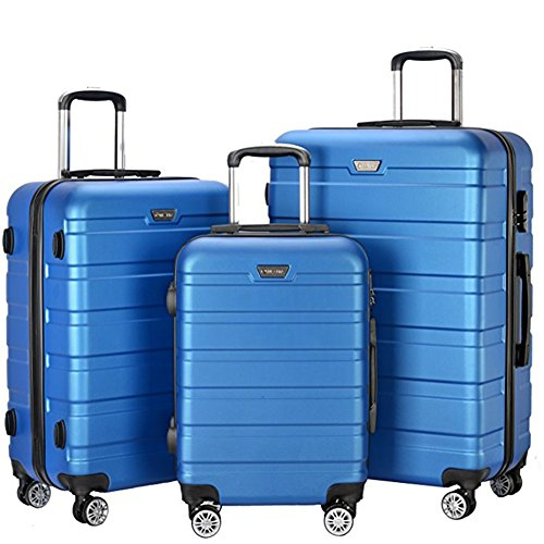3b541fcf4 Resena 3 Pieces Hardside Spinner Luggage Sets ABS Travel Lightweight ...