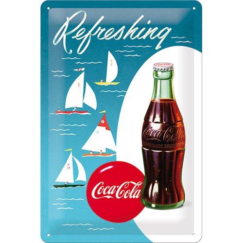 Nostalgic-Art Cartel de Chapa 20x30 cm Coca-Cola - Sailing ...