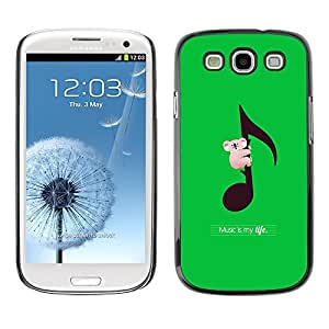 Design for Girls Plastic Cover Case FOR Samsung Galaxy S3 Koala Australia Music Green OBBA