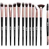 MAANGE-Brocha de Maquillaje Profesionales 12 Piezas Set de Pinceles de Paquillaje Brochas para Ojos Blending Eyeliner Eyelash