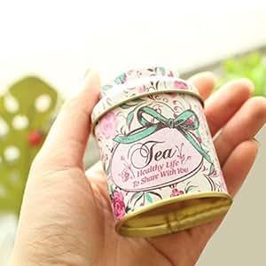Flower Pastoral Style Mini Tea & Coffee Tin