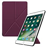 Fintie iPad 9.7 2018 2017 / iPad Air 2 / iPad Air Origami Case - Lightweight Slim Multi-Angle Standing Protective Cover with Auto Wake/Sleep Feature for iPad 6th / 5th Gen, iPad Air 1 2, Purple