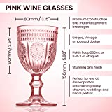 Pink Wine Glasses set of 6 blush goblets the