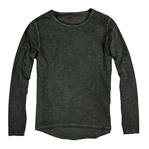 emilio adani Herren Rundhals Shirt, 24878, Grün