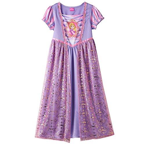 Disney Princess Girls Rapunzel Beautiful Fantasy Dress-Up Night Gown Size 6 (Disney Princess Gowns For Kids)