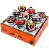 Radko Shiny Brite 9 Count Halloween Decorated Rounds Ornaments