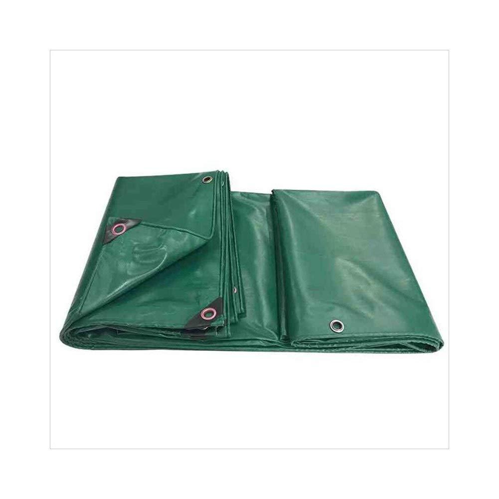 MDBLYJAuvent pare soleil et tissu froid Toile de bÂche armée verte, étoffe imperméable à l'eau de tissu de hangar de tissu de parasol de coupe-vent imperméable à l'eau, isolation thermique anti-vieill A 4x4M