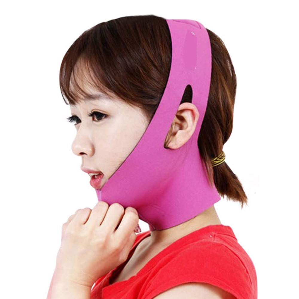 Face-lifting belt Face-lifting Face V-face Sleep Face-lifting Face-lifting Face Mask Face-lifting Instrument Firming Face Massager (Color : A) FFFJJJ