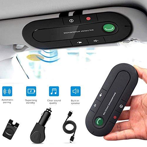 Bluetooth Car Adapter Hands-Free Calling Car Kit SALEMAR Bluetooth Car Receiver Audio Sun Visor Speaker With Car Charger
