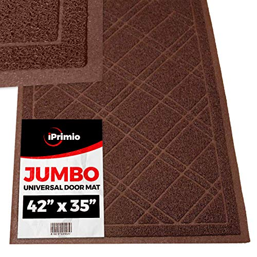 "- SlipToGrip Universal Door Mat – XL Size 42"" x 35"" – Anti Slip, Durable & Washable – Duraloop Mesh Entrance Outdoor & Indoor Welcome Mat – Dirt and Dust Absorber"