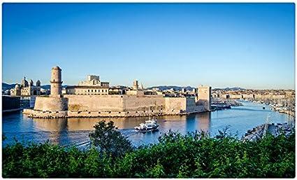 Francia fortaleza Ríos Marsella Fort Saint-Jean ciudades sitios de viajes postal Post tarjeta: Amazon.es: Oficina y papelería