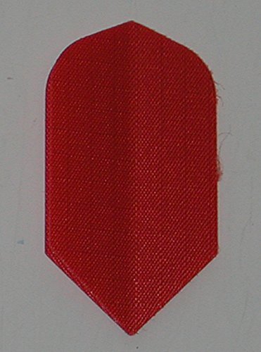 US Darts - 3 Sets (9 Flights) Red Nylon Slim Dart Flights - Cloth, Fabric, Ripstop