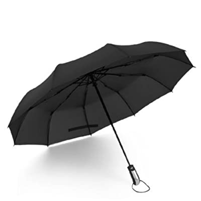 10 Ribs Reinforced Windproof 210T Canopy Automatic Folding Portable Umbrella