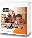 Waterproof Mattress Protector - Hypoallergenic Waterproof Mattress Protector - Knitted Jersey Fitted Mattress Cover - Vinyl Free - Noiseless Mattress Guard (King) - by Utopia Bedding