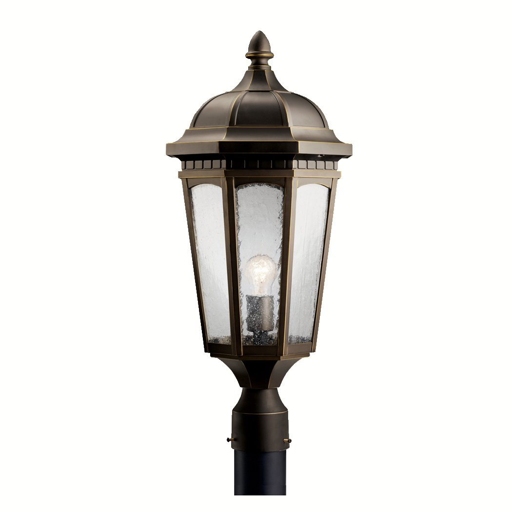 Amazon.com : Kichler 9532BKT One Light Outdoor Post Mount : Garden ...
