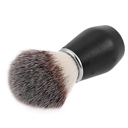 Men's Shaving Brush Barber Salon Men Facial Beard Cleaning Shave Tool Wood Handle Razor Brush Men Nylon Razor Cleaner