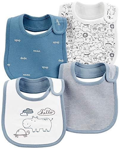 Carter's Baby Boys Teething Bibs with Water Barrier