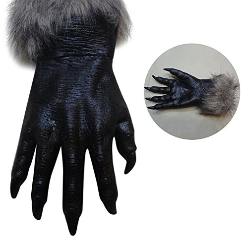 [Peyan 1 Pair Classic Halloween Horror Silicone Rubber Wolf Claws Cosplay Gloves Creepy Costume] (Creepy Kids Costumes)