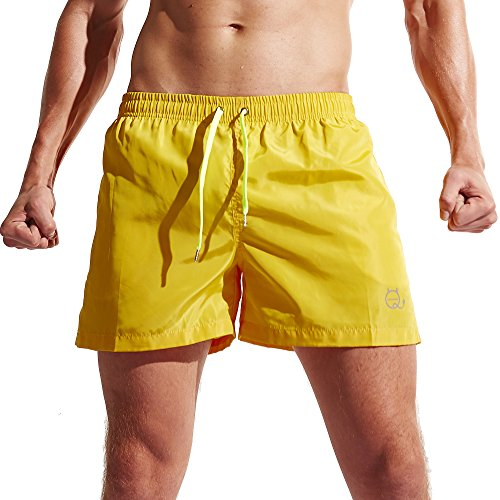 Men's Shorts Swim Trunks Quick Dry Beach Shorts with Pockets for Surfing Running Swimming - In Running Swim Shorts