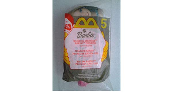 2000 McDonalds Toy Mattel Rainbow Princess Barbie