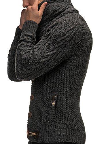 Amazon.com: Leif Nelson Men's Knitted Jacket Cardigan: Clothing