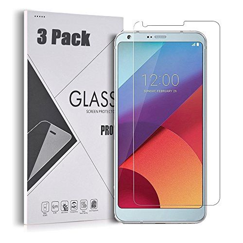 Price comparison product image LG G6 Screen Protector - GreenElec Tempered Glass Screen Protector for LG G6,  3 Pack