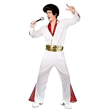 (L) Mens King of Rock  n  roll Costume for Elvis 50s 60s 70s Fancy Dress  Mans Male L  Amazon.co.uk  Clothing 51ce4eadeb39