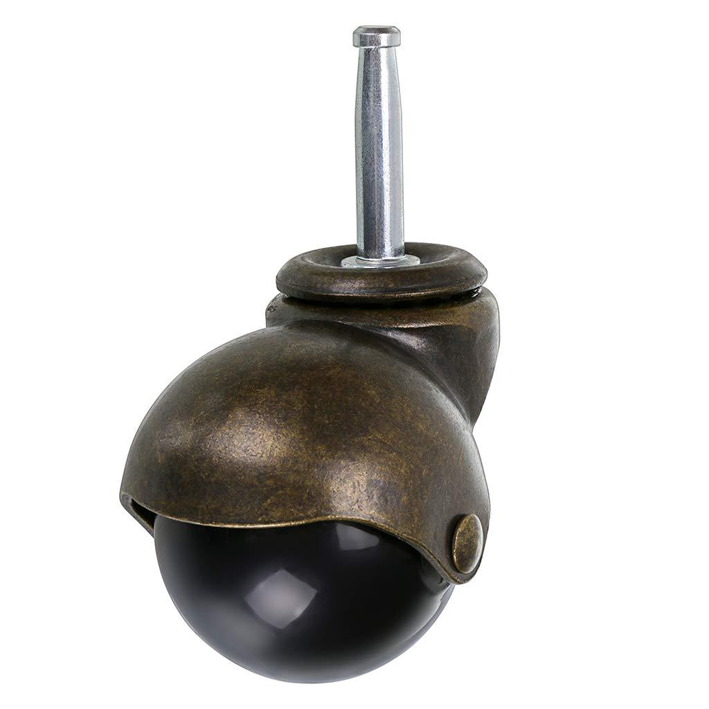 M8/×38mm Stem Caster Skelang Roulettes /à billes en laiton vieilli Capacit/é totale 350 kg pour remplacement de meubles