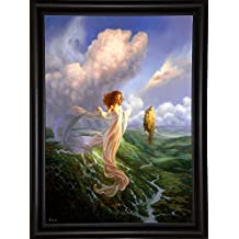 "Frame USA Mistress of the Winds Print 25.5""x18"" by Christophe Vacher in a Bistro Expresso-CHRVAC271852"