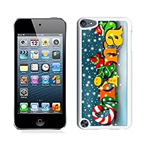 Ipod 5 Cases,Colorful Snowflake Merry Christmas White Hard Shell Plastic Apple Ipod Touch 5th Cases