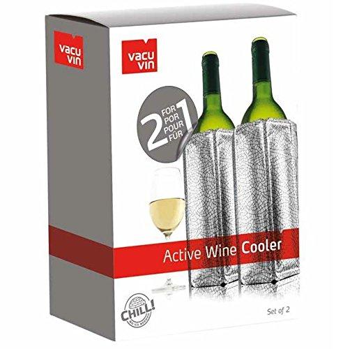 Vacu Vin Active Wine Cooler Silver Set Of 2 Desertcart