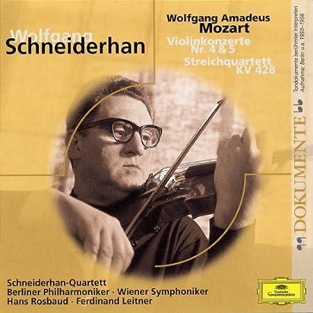 Violinkonzerte 4,5/Streichquartett KV 428