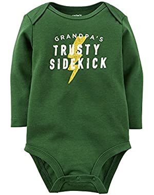 Carters Baby Clothing Outfit Boys Grandpa's Sidekick Bodysuit