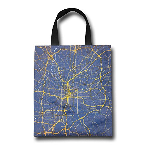 City Map Wrinkle Free Foldable Tote Eco Grab Bag Shopping Bag Tote - Map Store Great Mall