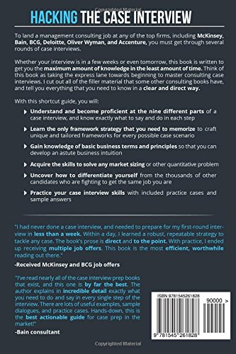 hacking the case interview your shortcut guide to mastering consulting interviews taylor warfield 9781545261828 amazoncom books - Case Interview Examples Case Interview Questions