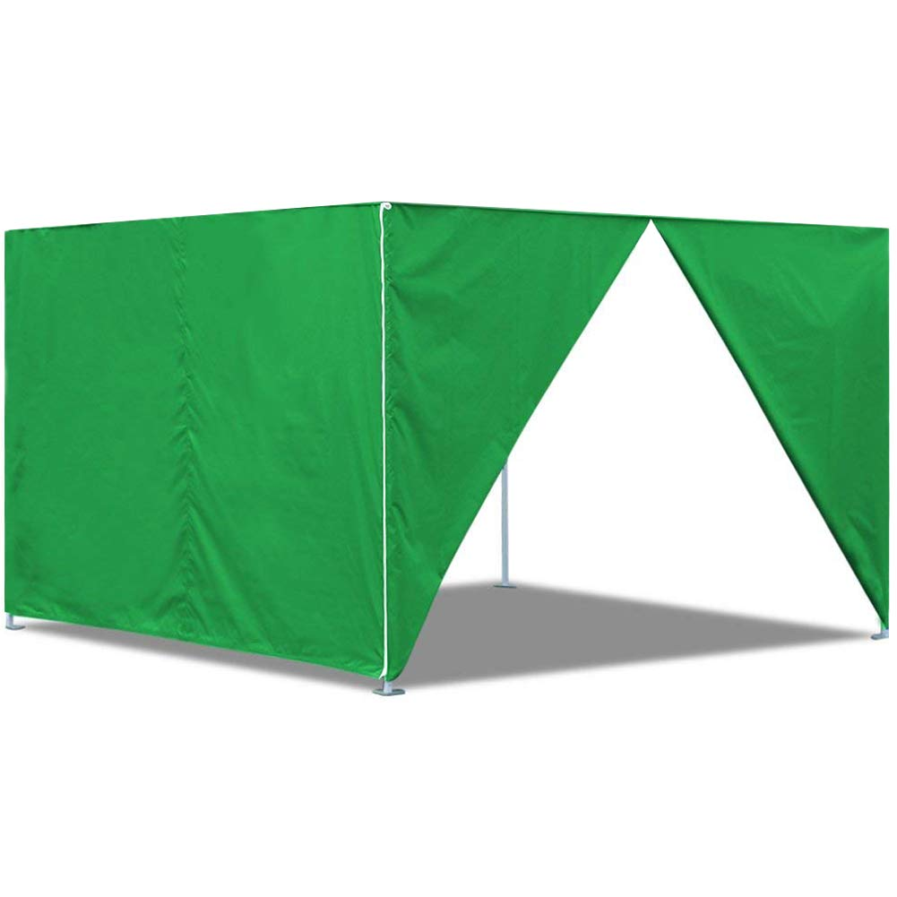 Eurmax Two Sidewalls for 10x10 Pop up Tent Canopy Side Walls with Zipper Door, Zipper End (2 Walls only) (White)