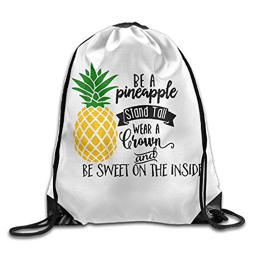 Be A Pineapple Unisex Drawstring Backpack Travel Sports Bag Drawstring Beam Port Backpack. by crystars