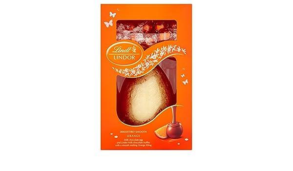 Huevo de Pascua de chocolate Lindt Lindor trufas Leche y Naranja 285g: Amazon.es: Alimentación y bebidas