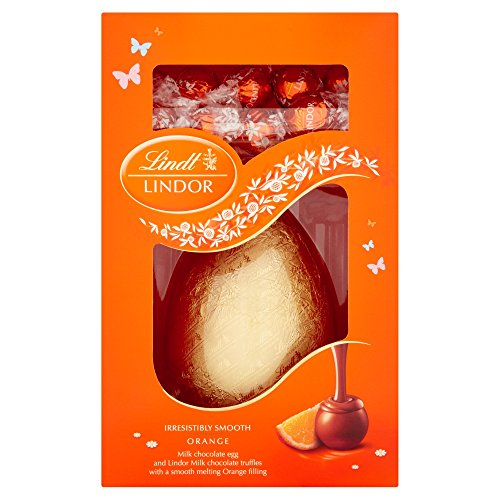 Lindt Lindor Milk Chocolate Easter Egg and Orange Truffles 285gram