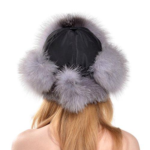 OLLEBOBO Vera Pelliccia Volpe Cappello Donna Ushanka Colbacco Elegante  Comodo volpe blu  Amazon.it  Abbigliamento 8299489b06d6